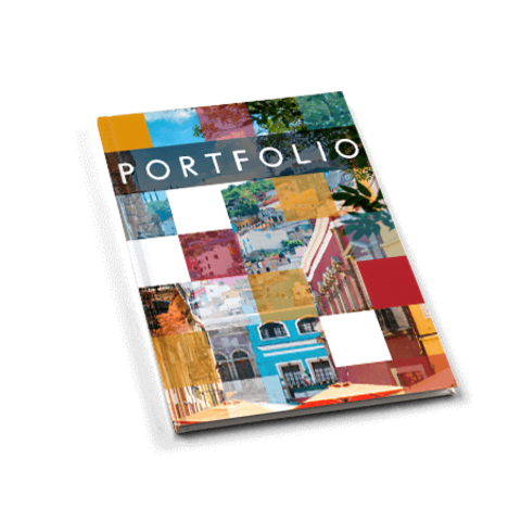 Laat je portfolio als hardcover drukken