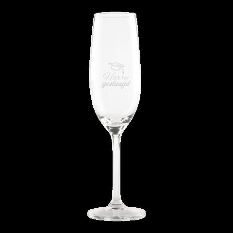 Laat je eigen champagneglas graveren!